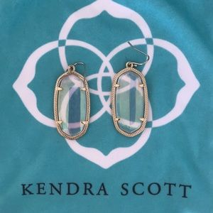 Clear and gold Kendra Scott earrings